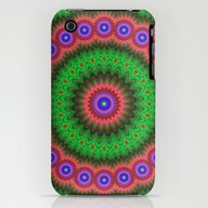 Mandala Flower Bouquet iPhone (3g, 3gs) Slim Case