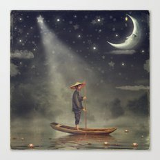 Chinese Man  Stands In B… Canvas Print
