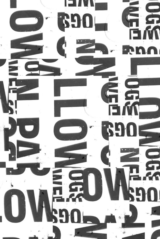 TYPE COLLAGE Art Print