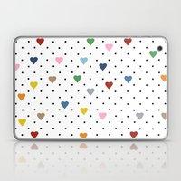 Pin Point Hearts Laptop & iPad Skin
