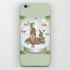 Snow globe deer iPhone & iPod Skin