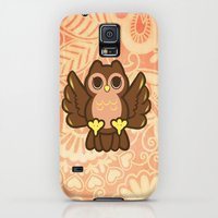 Galaxy S5 Cases featuring Cutie Owl by AlissaJovino