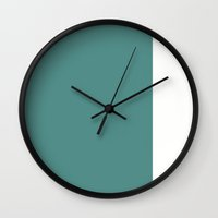 Teal Stripe (2) Wall Clock