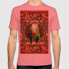 Dolphin Mens Fitted Tee Pomegranate SMALL