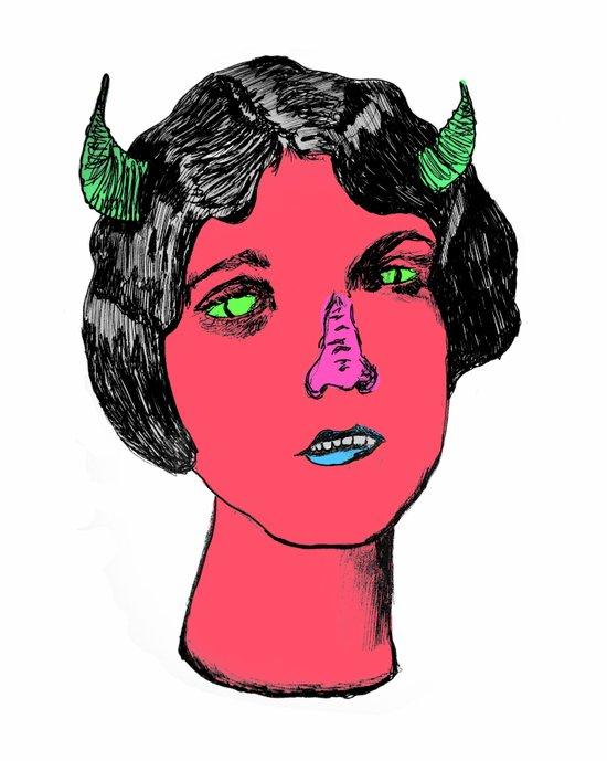1922 Lila Lee portrait color Art Print