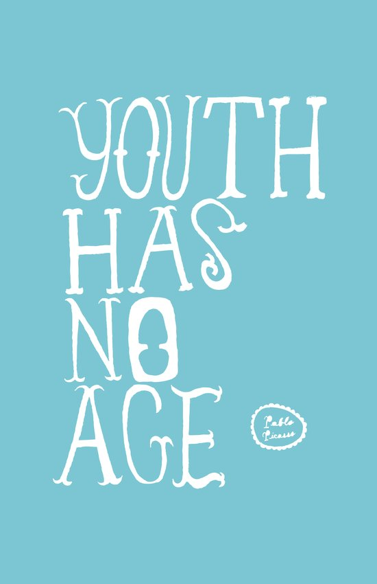 Youth Has No Age (Blue) Art Print