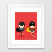 Heroes & super friends! Framed Art Print