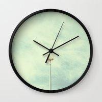 Solitary Fluorescence. Wall Clock