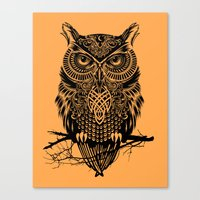 Warrior Owl 2 Canvas Print