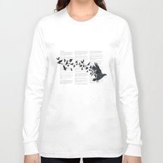 Vintage Style Print with Poem Text Edgar Alan Poe: Edgar Alan Crow Long Sleeve T-shirt