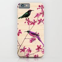 iPhone & iPod Case featuring Birds and orchids by TatiAbaurreDesigns