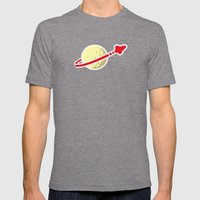 Space 1980 Mens Fitted Tee Tri-Grey SMALL