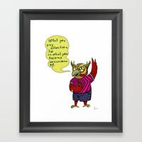 What You Pay Attention T… Framed Art Print