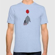 Eeyore Balloon Mens Fitted Tee Athletic Blue SMALL