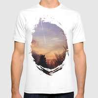 Sunset Streak Mens Fitted Tee White SMALL