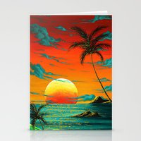 Abstract Surreal Tropica… Stationery Cards
