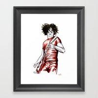 Jack White Red Watercolo… Framed Art Print