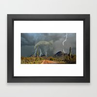 When It All Comes Down - Part II Framed Art Print