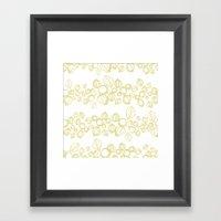Leafy Stripes  Framed Art Print
