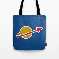 Blue Spaceman Tote Bag