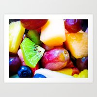 Study of Fresh Fruit Art Print