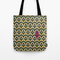 Rubine Feather Tote Bag
