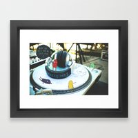 Where the heck did we just land? Framed Art Print