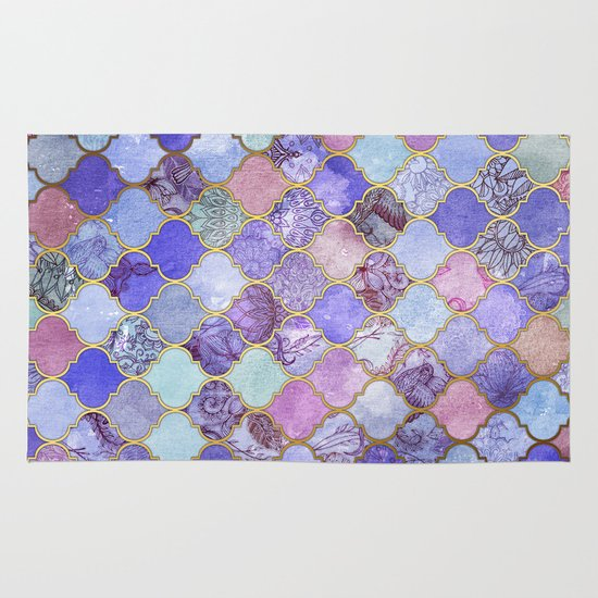 Royal Purple, Mauve & Indigo Decorative Moroccan Tile