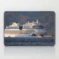 Aida Stella Cruise Ship Leaving Marmaris iPad Case