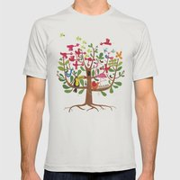 summer tree Mens Fitted Tee Silver SMALL
