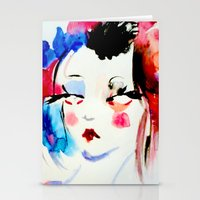 Water Color Sketch Stationery Cards