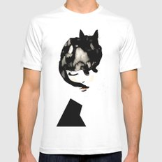 Cat Girl SMALL Mens Fitted Tee White