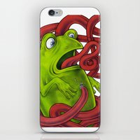 Frogs eat Insects iPhone & iPod Skin