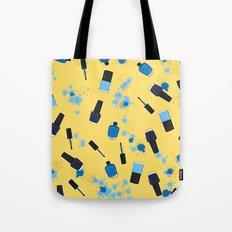 NAIL POLISHES! - YELLOW/BLUE Tote Bag