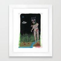 Blood Cats Framed Art Print