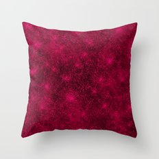 Sequin series red Throw Pillow