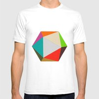 Icosahedron Mens Fitted Tee White SMALL