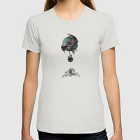 2043 Womens Fitted Tee Silver SMALL