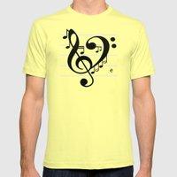 Love Music II Mens Fitted Tee Lemon SMALL