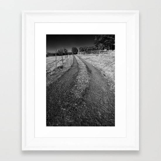 The Path Less Traveled On  Framed Art Print