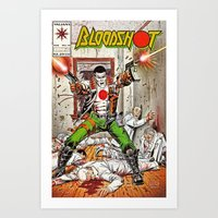 Bloodshot Shooting Art Print