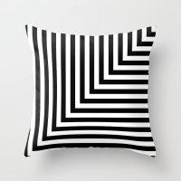 Black And White L Stripe… Throw Pillow