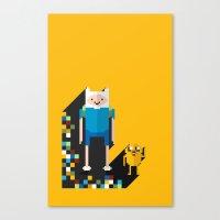 Finn The Pixel Canvas Print