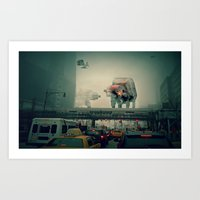 AT-AT Downtown NYC Art Print