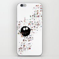 Blowing Rainbow Bubbles iPhone & iPod Skin