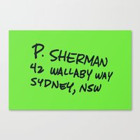 P. Sherman, 42 Wallaby Way Canvas Print