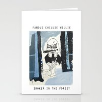 smoker in the forest Stationery Cards