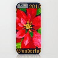 Christmas Poinsettia iPhone 6 Slim Case