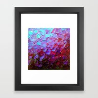 MERMAID SCALES - Colorful Ombre Abstract Acrylic Impasto Painting Violet Purple Plum Ocean Waves Art Framed Art Print