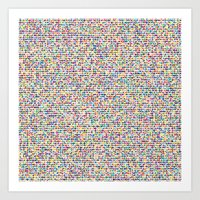 Cuben Mini Cube Grid Art Print